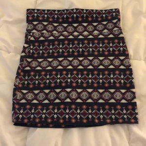 Murk-colored mini Skirt